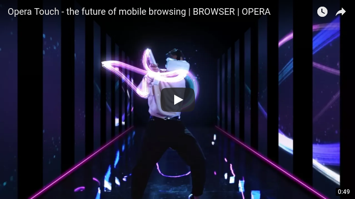 Opera Touch - the future of mobile browsing